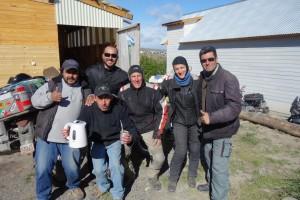 Mit den Inhabern von der Cabana in El Calafate