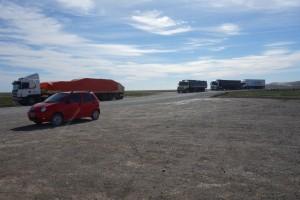 Piste zur Grenze Argentinien