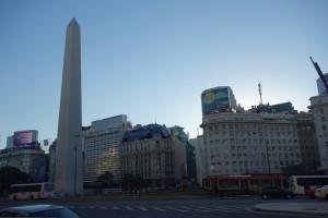 Dass Wahrzeichen der Stadt, der Obelisko