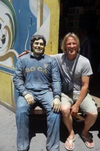 Peter mit seinem Freund Diego