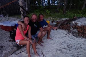 Tina mit unserem Kapitän und Billy