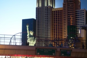 Mitten am Las Vegas Strip steht die Freiheitsstatue